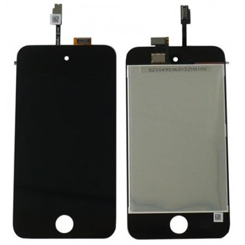 Black Original lcd with high copy glass assembly for ipod touch 4th gen