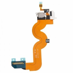 Original Dock Connector Charging Port with Flex Cable for iPod Touch 5 - White